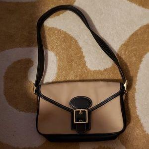 Coach leather and canvas mini handbag